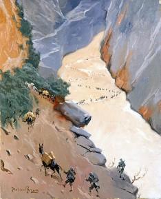 24. Alpini in avanzamento sul nevaio al passo della Sentinella