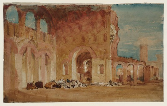 The Basilica of Constantine 1819 by Joseph Mallord William Turner 1775-1851