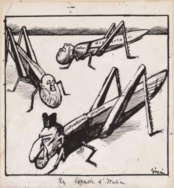 Mario-Sironi_Le-locuste-dItalia_tavola-per-Il-Popolo-dItalia_1922_china-su-carta_cm24x235