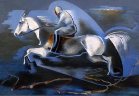 Enrico-Prampolini-Dinamica-dellazione.-Miti-dellazione.-Mussolini-a-cavallo-1939