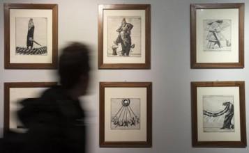 """Exposition work of art """"Mario Sironi e le Illustrazioni per"""