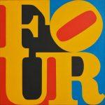 Robert-Indiana-FOUR-1965-acrilico-su-tela-61-x-612-cm.-150x150