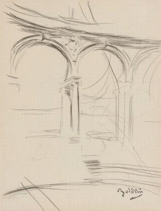 Boldini - Collonade a Versailles alta doria n. 2039