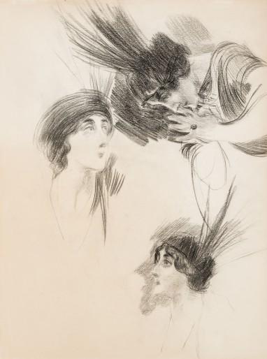 Boldini - Tre studi per il ritratto della Marchesa Dora di Rudinì Labouchère