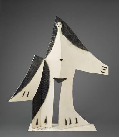 Picasso - Donna a braccia aperte1961Lamiera tagliata e piegata, e rete dipinta183 × 177,5 × 72,5 cmParigi