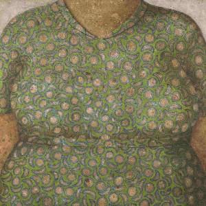 Domenico-Gnoli-Buste-en-vert-olio-su-tela-1964