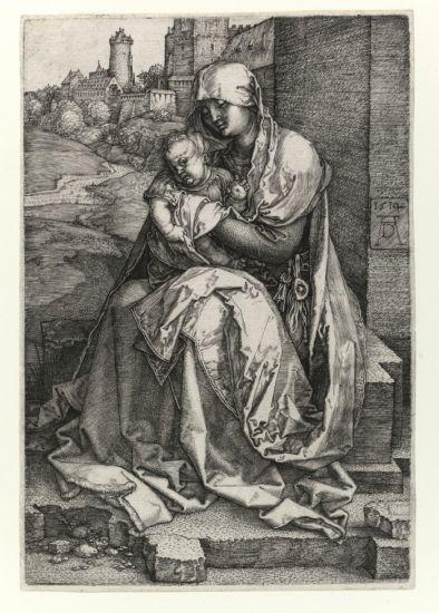 Madonna con il bambino seduta presso un muro 1514