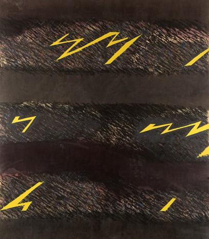 La Salamandra, 1973, Tecnica mista su tela, 150x130 cm