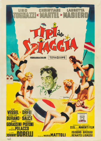 Tipi da spiaggia_1960_Regia Mario Mattoli_Manifesto di Enrico De Seta_lancio
