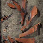 Arman-Prècieuse-Ridicule-1974-violoncello-sezionato-per-metà-incorporato-nel-cemento-in-scatola-di-legno-cm-140x100x25.-150x150