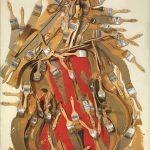 Arman-Sans-titre-1998-violoncello-sezionato-pennelli-e-acrilico-su-tela-su-tavola-cm-122x102x15.-150x150