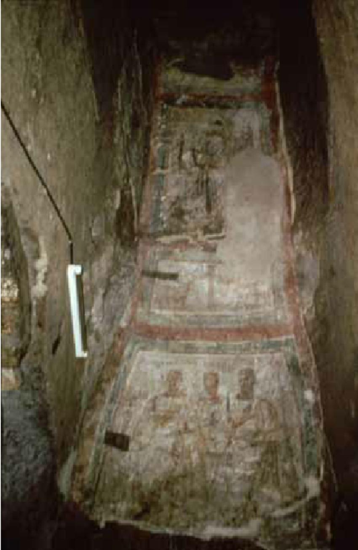 Roma-Cripta-di-santa-Cecilia-nella-catacomba-di-Callisto-sulla-via-Appia-affresco