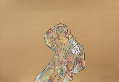 Renato-Mambor-Asciugacapelli-1966-tecnica-mista-su-cartoncino-cm-72x102.