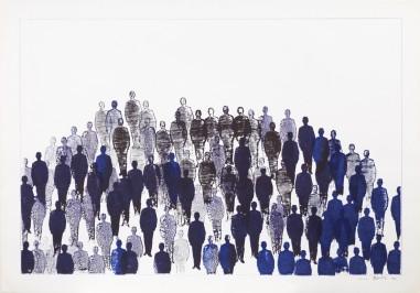 Renato-Mambor-Folla-1963-tecnica-mista-su-carta-cm-70x100.