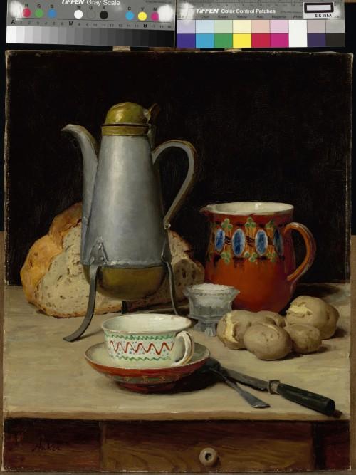 Albert Anker - Nature morte café et pommes de terres (FILEminimizer)