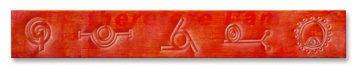 Gaetano Grillo,Paolo,polimaterico su legno,cm.25,8x178x5,2013