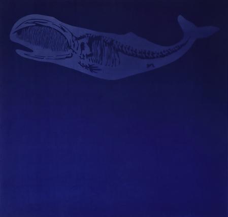 Nicola Salvatore,   balena su velluto,  cm.110x110 ,2019