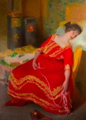 11. Alfredo Protti, 1912, Il sonnellino, collezione privata-min