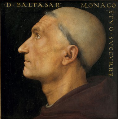 Pietro PeruginoRitratto di Baldassarre VallombrosanoInv. 1890 N. 8376