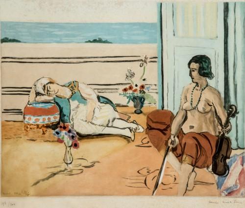 Henri-Matisse-Odalisque-sur-la-terrasse-1922-acquatinta-su-carta
