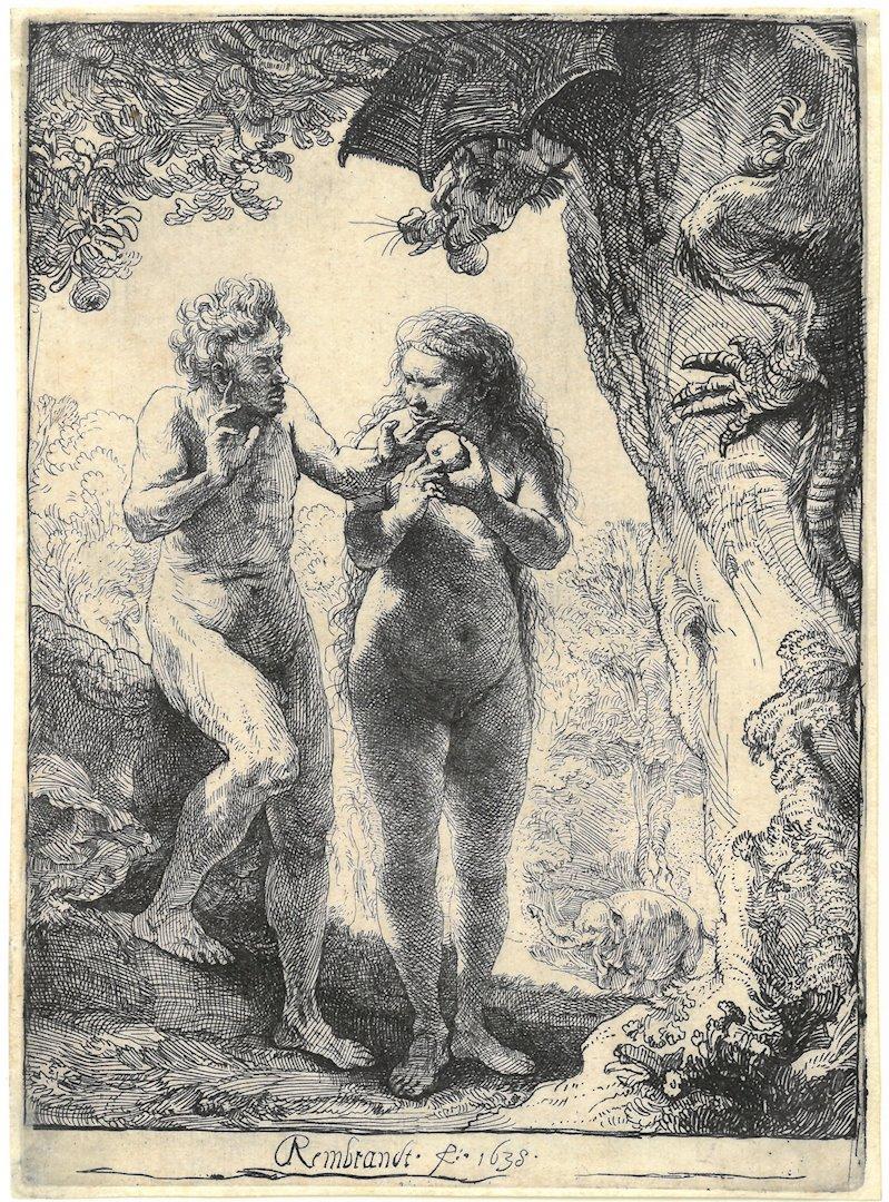 Rembrandt-Van-Rijn-Adam-and-Eve