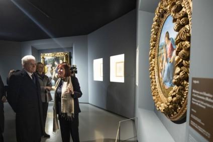 Mattarella visita in anteprima la mostra di Raffaello alle Scuderie