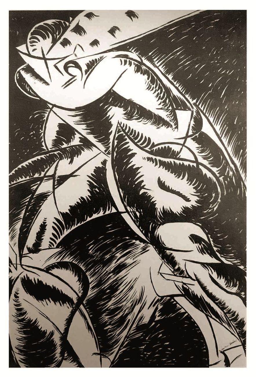 Umberto-Boccioni-Dinamismo-di-un-corpo-umano-1913.-Roma-collezione-privata