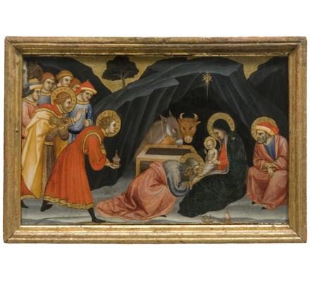 fig. 9_Taddeo di Bartolo_tavoletta tavolette della predella Adorazione dei Magi_Siena Pinacoteca Nazionale