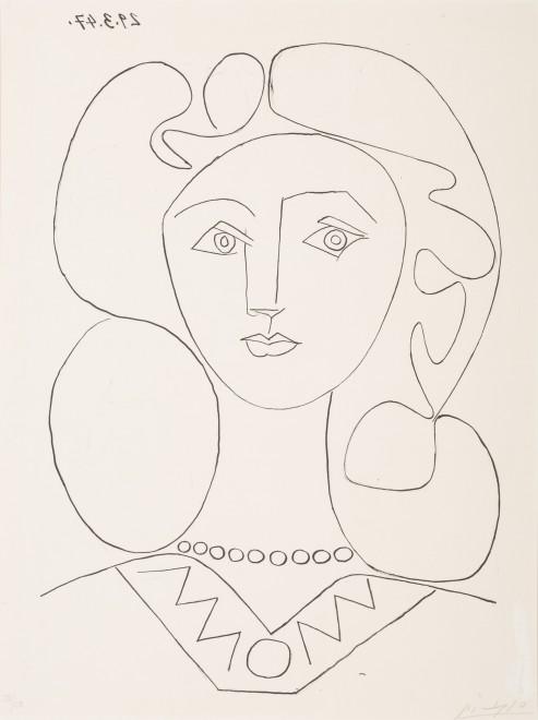 Pablo Picasso - Donna con collana, 1947 © Johannesburg Art Gallery