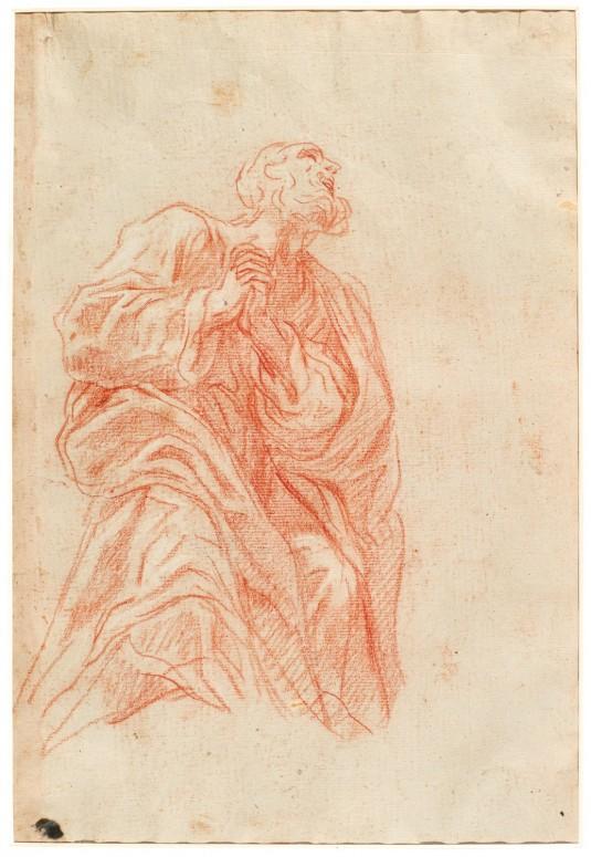 Studio di Apostolo in ginocchio, Baldassarre Franceschini