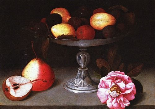Fede-Galizia-Alzata-con-prugne-pere-e-una-rosa-1602-ca.-replica-collezione-privata