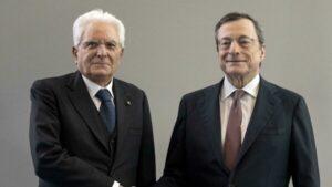 Mario Draghi con il Presidente Sergio Mattarella