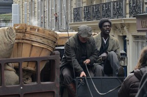 EXCLU PARIS : One day of the shooting of ' Chocolat ' the new movie of Roschdy Zem.