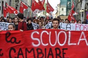Protesta studenti scuole e università