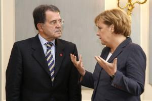 Merkel meets with Prodi