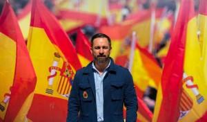 Santiago Abascal, 43 anni, presidente del partito di destra Vox ed ex dirigente del Partido Popular.