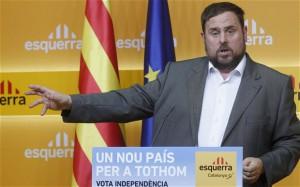 Oriol Junqueras, presidente della Sinistra Repubblicana Catalana (ERC), condannato a 13 anni di prigione per disobbedienza e sedizione.