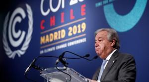 """Il segretario generale Onu, deluso per """"l'occasione perdita"""" alla Cop25 di Madrid"""