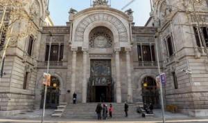 L'ingresso del Tribunale Superiore di Giustizia di Catalogna che ha condannato Quim Torra per disobbedienza.