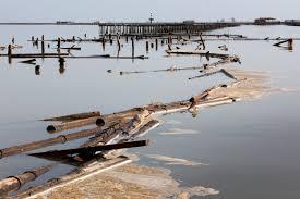 IL delta del fiume Ebro, la via d'acqua più lunga e importante di Spagna. La tempesta Gloria ha distrutto le coltura del delta, zona di grande agricoltura.