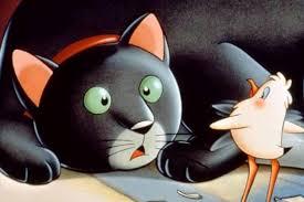 """Un'immagine tratta dal film d'animazione """"La gabbanella e il gatto"""" del regista napoletano Enzo d'Alò che nel 1998 si ispirò al noto romanzo di Sepúlveda.,"""