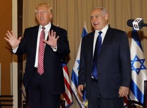 Gerusalemme, il Presidente Usa Donald Trump incontra il premier israeliano Netanyahu
