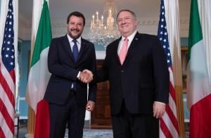 Washington, Mike Pompeo riceve il ministro dell'interno italiano Matteo Salvini