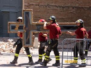 mirandola vigili del fuoco crocefisso-2