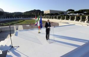Sergio Mattarella visita il CONI