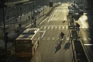 Foto di Archivio - venerdì 7 dicembre, a Milano, il blocco dei veicoli diesel Euro 4.- foto di repertorio