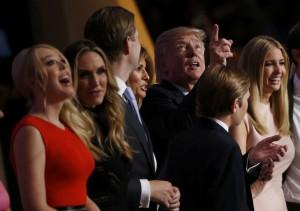La famiglia Trump festeggia la candidatura di Donald alla Casa Bianca