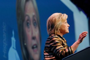 Hillary Clinton in campagna elettorale a Washington