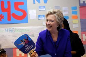 Hillary Clinton durante gli ultimi giorni di campagna elettorale a Las Vegas