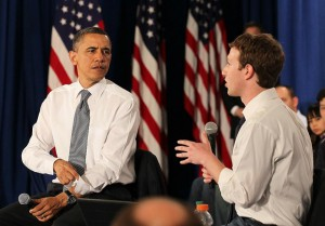 Obama e Zuckerberg